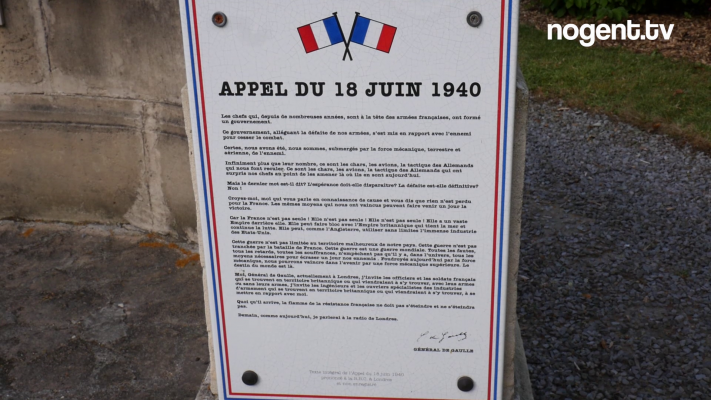 Commémoration de l'Appel du Général de Gaulle